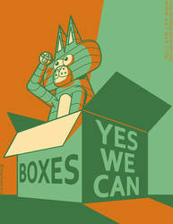 Boxes, Yes We Can by cobaltkatdrone