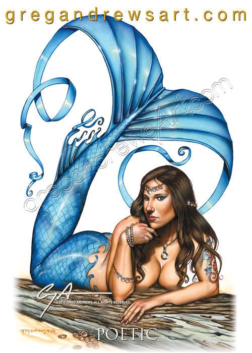 Poetic Greg Andrews Artist Sexy Fantasy Mermaid by HOT-FINS-MERMAIDS