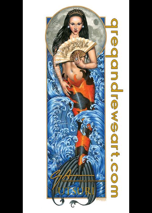 UTSURI Koi Asian Mermaid Fantasy Art Greg Andrews by HOT-FINS-MERMAIDS