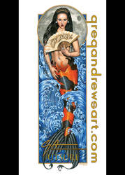 UTSURI Koi Asian Mermaid Fantasy Art Greg Andrews by HOT-FINS-MERMAIDS