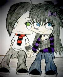 Cute Chibi Couple by ElfEupraxia
