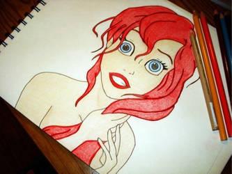 Ariel Drawing by ElfEupraxia