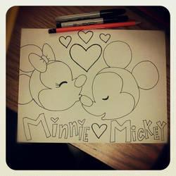 Minnie and Mickey by ElfEupraxia