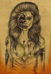 Best Zombie Girl Drawing Of Mine by ElfEupraxia