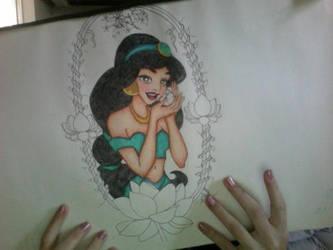 Princess Jasmine Drawing by ElfEupraxia