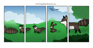 Stupid Raccoon by CreepyKido
