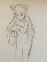 Chibiusa Sketch~ by Kari-Curry