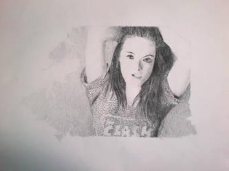 Kristen Steward Pencil Portrait by MirrorMonkey