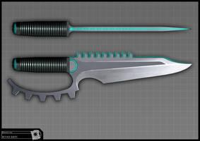 Concept for Riddick - knife by torvenius