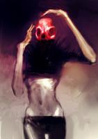speed painted red skull girl by torvenius