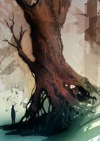 speed painted swamp tree by torvenius