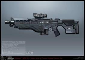 Syndicate Concept Art - Kusanagi Rifle by torvenius