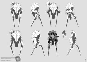 Concept Art RIDDICK AoDA - mech sketches by torvenius