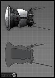 Concept Art RIDDICK AoDA - Escape pod by torvenius