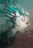 Grendel album artwork 'Timewave Zero' by torvenius