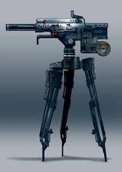 Sci-fi turret movie concept by torvenius
