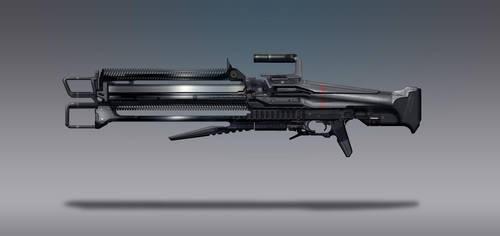 Commission Concept Art - Beam Rifle by torvenius