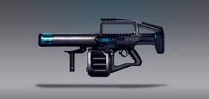 Commission Concept Art - Nade Rifle by torvenius