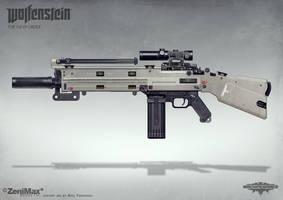 Wolfenstein: The New Order - AR Marksman rifle by torvenius