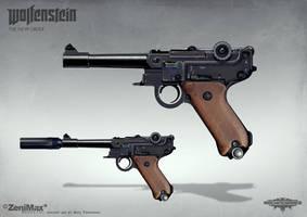 Wolfenstein: The New Order - Handgun 46 by torvenius