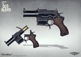 Concept art Wolfenstein The Old Blood Kampfpistol by torvenius