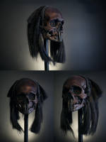 He walks at night - headhunter trophy skull by torvenius