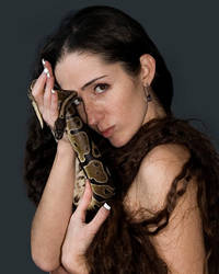 Portrait With Snake by slephoto