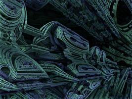 Amazing Box Race 05 - Mandelbulb 3D fractal by schizo604