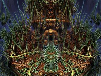 ABoxPlatinumBulb fram 1139 - Mandelbulb 3D fractal by schizo604