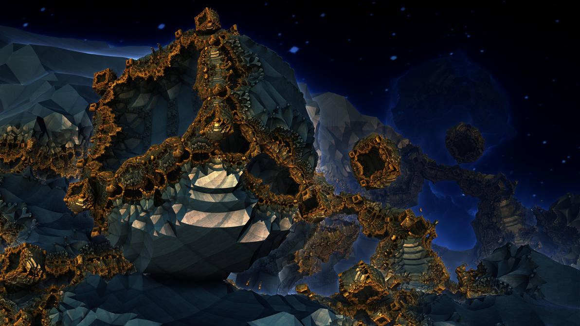 Golden Gates 3093 - Mandelbulb 3D fractal by schizo604