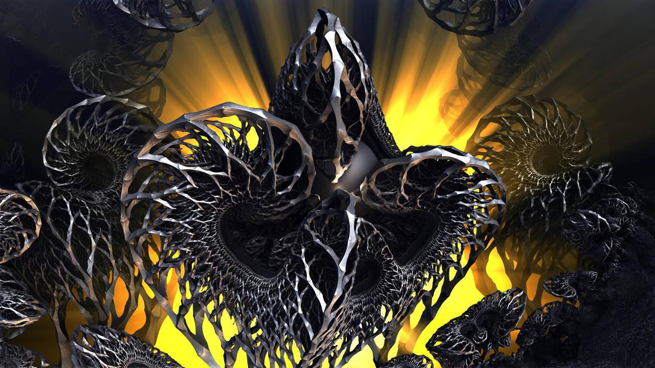 Nested 677 - Mandelbulb 3D fractal by schizo604