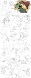 Jox and Snufkin sketches by Tamasaburo09