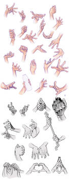 Hand Compilation by Tamasaburo09