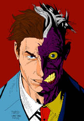 Two-Face in Color by LarryKingUndead