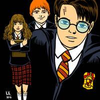 The Hogwarts Crew by LarryKingUndead