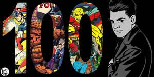 Kirby 100 by LarryKingUndead