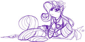 Rarity Sketch by theinkBot
