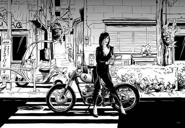 Tokyo BIke Girl by mzkmzk