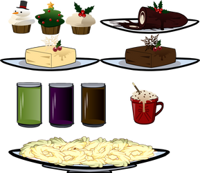 christmas food props by yumekawa-chan