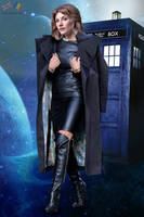 Jodie Whittaker (Doctor Who) leather fake 01 v02 by ElisabetaM