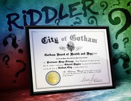 The Riddler Edward Nygma - Arkham Asylum by LeftoverPrints