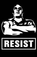 RESIST the Giant political Print by LeftoverPrints