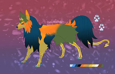 Cockatrice wolf (open) by cindersandashes