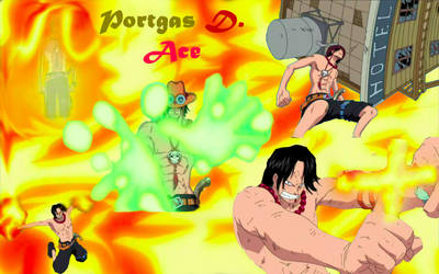 Portgas D. Ace by Flaming-Mustang
