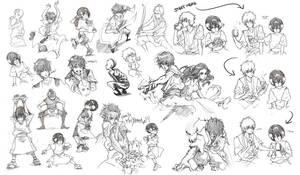Avatar sketches by cwutieangel