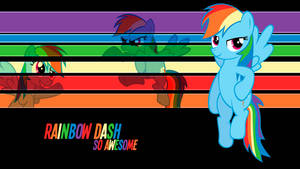 Rainbow Dash So Awesome Wallpaper by BlueDragonHans