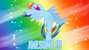 Awesome Rainbow Dash Wallpaper by BlueDragonHans