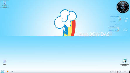 My Little Pony Rainbow Dash Interface Minimalistic by BlueDragonHans
