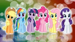 My Little Pony FIM Mane 6 'Colors!' Wallpaper by BlueDragonHans