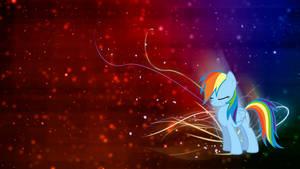 Rainbow Dash 'Colors' Wallpaper by BlueDragonHans